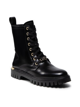 Tommy Hilfiger Tommy Hilfiger Bakancs Polished Leather Lace Up Boot FW0FW06008 Fekete