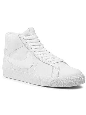 NIKE NIKE Παπούτσια Sb Zoom Blazer Mid 864349 105 Λευκό