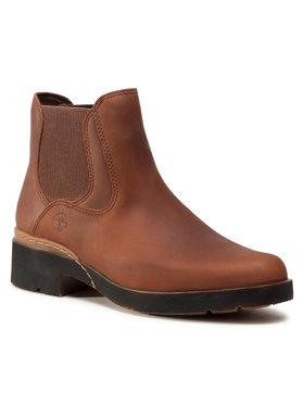 Timberland Timberland Kotníková obuv s elastickým prvkem Graceyn Chelsea TB0A2FBUF13 Hnědá