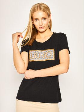 Liu Jo Sport Liu Jo Sport T-shirt TA0185 J9944 Crna Regular Fit