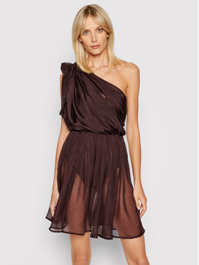 Drivemebikini Drivemebikini Paplūdimio suknelė Etrusco 2021-DRV-022_BR Ruda Regular Fit
