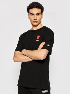 Puma Puma T-Shirt Downtown Graphic 530899 Czarny Loose Fit