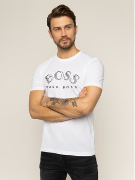 Boss Boss T-shirt Tee 1 50424014 Bianco Regular Fit
