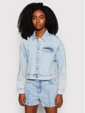 NA-KD NA-KD Kurtka jeansowa 1660-000538-0047-581 Niebieski Regular Fit