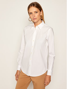 Lauren Ralph Lauren Lauren Ralph Lauren Koszula Chst Emb 200684553001 Biały Regular Fit