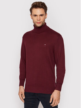 Tommy Hilfiger Tommy Hilfiger Pull à col roulé MW0MW15444 Bordeaux Relaxed Fit