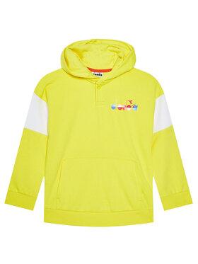 Diadora Diadora Sweatshirt Diadora Club 102.177124 Jaune Comfort Fit