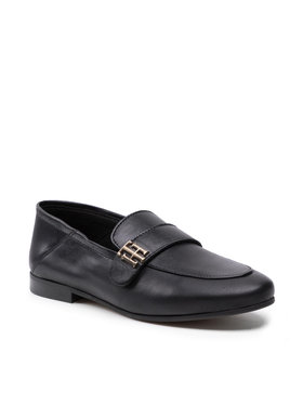 Tommy Hilfiger Tommy Hilfiger Lords Essential Leather Loafer FW0FW05786 Fekete