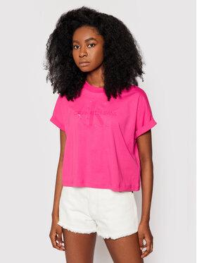 Calvin Klein Jeans Calvin Klein Jeans T-Shirt J20J216347 Růžová Relaxed Fit