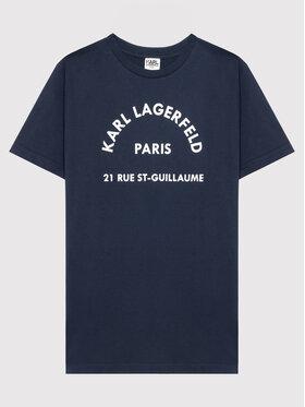 KARL LAGERFELD KARL LAGERFELD T-Shirt Z25316 M Granatowy Regular Fit