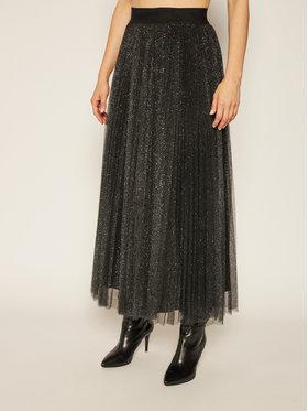 Liu Jo Liu Jo Plesirana suknja IF0017 J1858 Crna Regular Fit