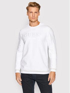 Guess Guess Μπλούζα M1BQ08 K6ZS1 Λευκό Slim Fit