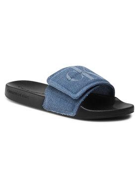 Calvin Klein Jeans Calvin Klein Jeans Nazouváky Slide Velcro Denim YW0YW00106 Tmavomodrá