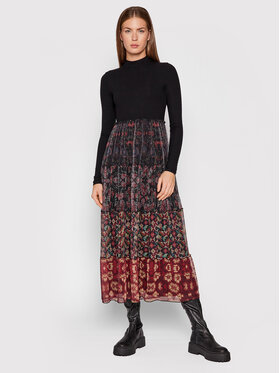 Desigual Desigual Sukienka codzienna Cinamon 21WWVK95 Czarny Regular Fit