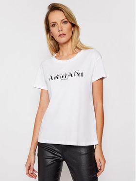 Armani Exchange Armani Exchange T-Shirt 3KYTGD YJG3Z 1000 Biały Regular Fit