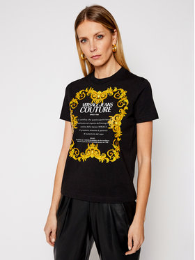 Versace Jeans Couture Versace Jeans Couture Marškinėliai B2HWA7TJ Juoda Regular Fit