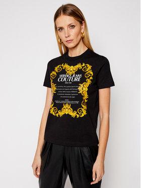 Versace Jeans Couture Versace Jeans Couture Tricou B2HWA7TJ Negru Regular Fit