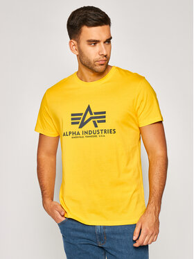 Alpha Industries Alpha Industries T-Shirt Basic 100501 Żółty Regular Fit