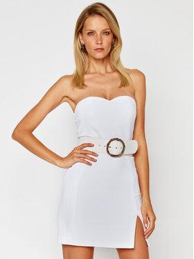 Elisabetta Franchi Elisabetta Franchi Коктейлна рокля TB-001-07E2-V499 Бял Slim Fit