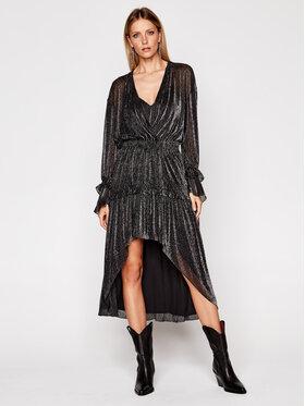 IRO IRO Коктейлна рокля Rolienae AN593 Сребрист Regular Fit