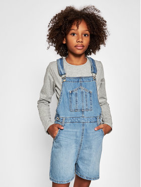 Pepe Jeans Pepe Jeans Nohavice na traky Sarah Dungaree PG201448 Tmavomodrá Regular Fit