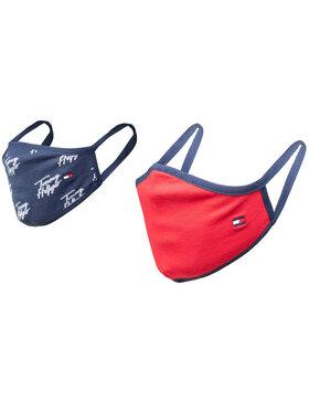 Tommy Hilfiger Tommy Hilfiger Sada 2 textilných masiek Kids Face Covers 2-Pack AU0AU01188 Tmavomodrá
