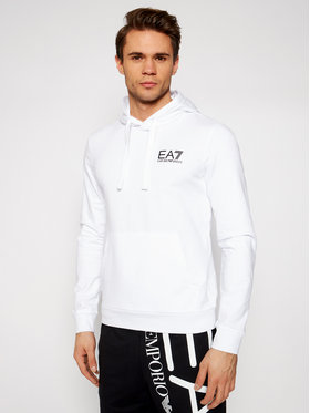 EA7 Emporio Armani EA7 Emporio Armani Majica dugih rukava 3KPM31 PJ8LZ 1100 Bijela Regular Fit