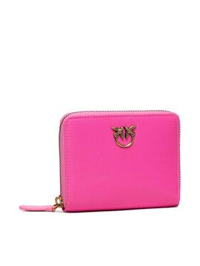 Pinko Pinko Duży Portfel Damski Nylon Riciclato Antique G AI 21-22 PLTT 1P22G7 Y7KZ Różowy