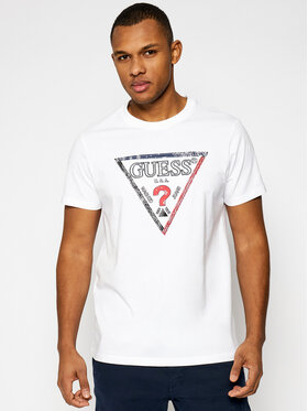 Guess Guess T-Shirt M1RI72 K8FQ1 Biały Regular Fit