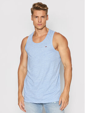 Tommy Jeans Tommy Jeans Tank top Racer Back DM0DM10887 Niebieski Relaxed Fit
