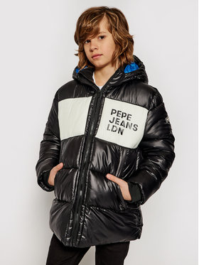 Pepe Jeans Pepe Jeans Пухено яке Nolan PB401022 Черен Regular Fit