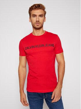 Calvin Klein Jeans Calvin Klein Jeans T-Shirt Institutional J30J307856 Červená Slim Fit