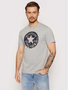 Converse Converse T-Shirt Splatter Paint Chuck Patch 10021506-A02 Szary Standard Fit