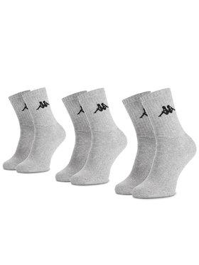 Kappa Kappa 3er-Set hohe Unisex-Socken Sonotu 704304 Grau