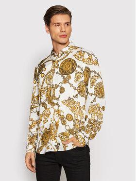 Versace Jeans Couture Versace Jeans Couture Риза Print Baroque Bijoux 71GAL2S0 Бял Regular Fit