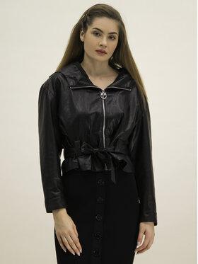 Pinko Pinko Kožená bunda Miglio PE 20 BLK01 1G14LG 7866 Čierna Regular Fit