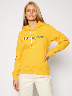 Champion Champion Bluza 113185 Żółty Regular Fit