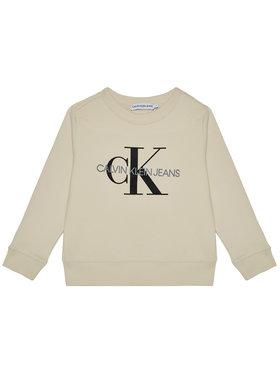Calvin Klein Jeans Calvin Klein Jeans Mikina Monogram Logo IU0IU00069 Béžová Regular Fit