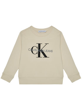 Calvin Klein Jeans Calvin Klein Jeans Mikina Unisex Monogram Logo IU0IU00069 Béžová Regular Fit