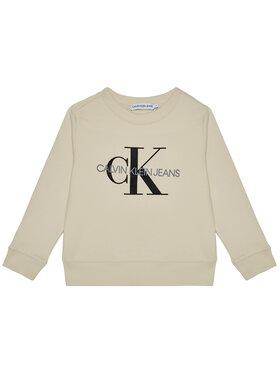 Calvin Klein Jeans Calvin Klein Jeans Sweatshirt Unisex Monogram Logo IU0IU00069 Beige Regular Fit