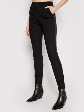 KARL LAGERFELD KARL LAGERFELD Kalhoty z materiálu Summer Punto 211W1004 Černá Regular Fit