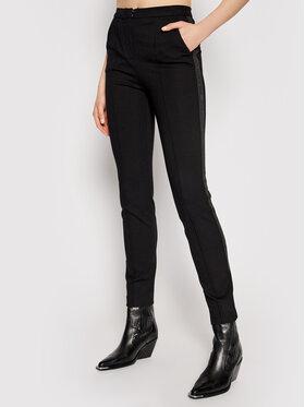 KARL LAGERFELD KARL LAGERFELD Spodnie materiałowe Summer Punto 211W1004 Czarny Regular Fit