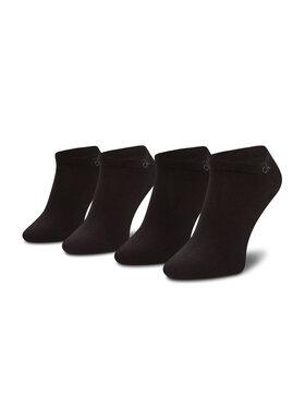 Calvin Klein Calvin Klein Set de 2 perechi de șosete medii pentru bărbați 701218707 Negru