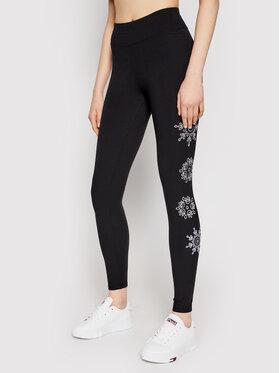 Desigual Desigual Leggings Mandala Swiss Embro 21SONK08 Fekete Slim Fit