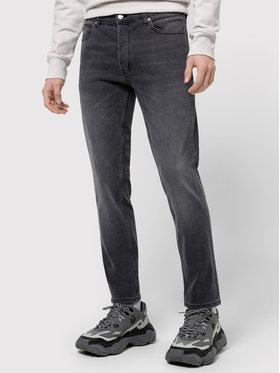 Boss Boss Jeansy Tapered Fit Hugo 634 50437695 Pilka Tapered Fit