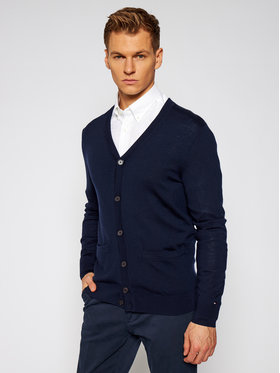 Tommy Hilfiger Tailored Tommy Hilfiger Tailored Cardigan Luxury Wool Classic TT0TT08530 Blu scuro Regular Fit
