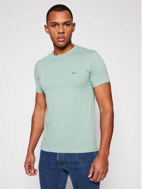 Lee Lee T-shirt Patch Logo L60UFQQN Zelena Regular Fit