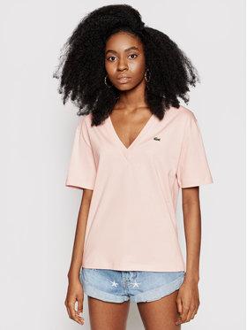 Lacoste Lacoste T-Shirt TF5458 Růžová Regular Fit