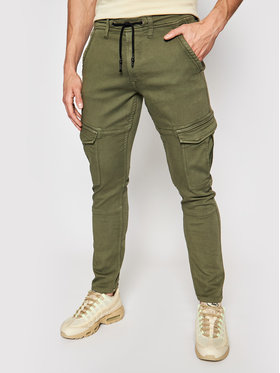 Pepe Jeans Pepe Jeans Jogger nohavice Jared PM211420 Zelená Regular Fit