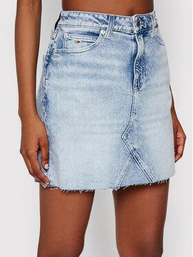 Tommy Jeans Tommy Jeans Džínsová sukňa Albc DW0DW10102 Modrá Regular Fit
